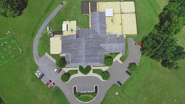 Drone photo of Perfect Pet Resort facility